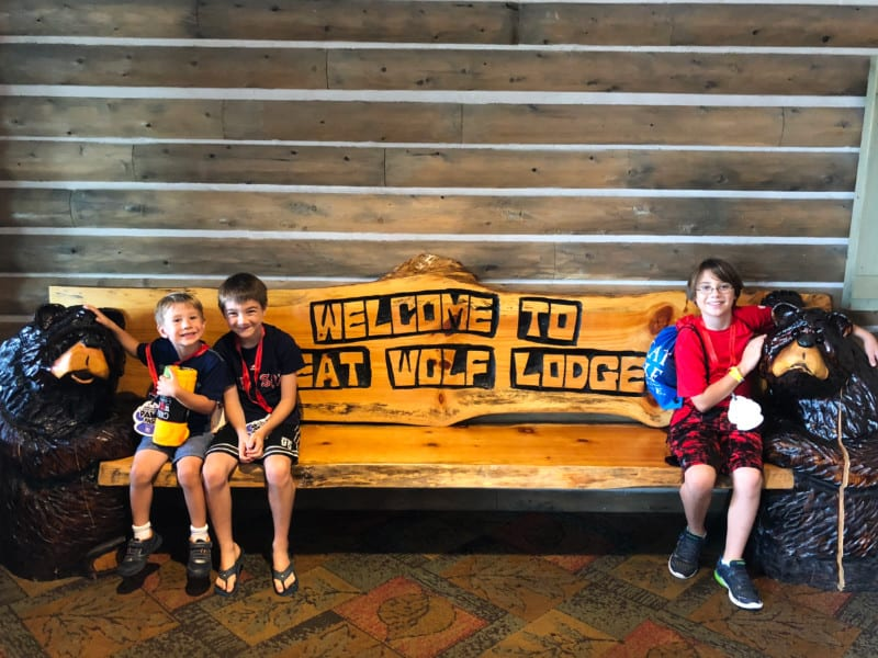 Welcome Bench Great Wolf Lodge